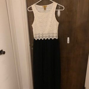 Finesse gorgeous black and white lace dress